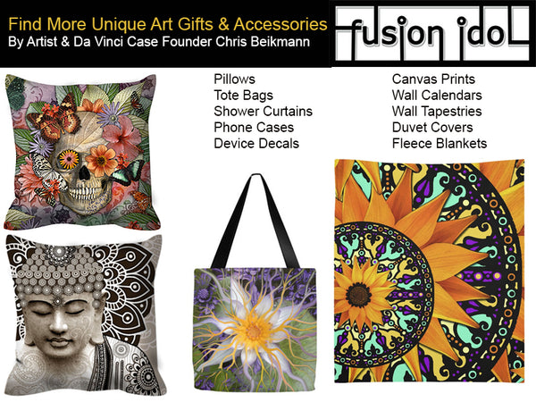 Find unique Buddha, dia de los muertos and floral art gifts by New Mexico artist Christopher Beikmann at fusionidol.com