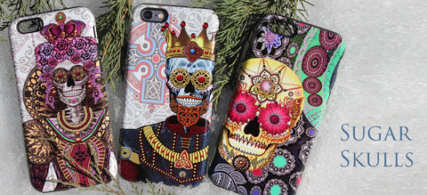 Sugar Skull and Day of the Dead Art Phone Cases