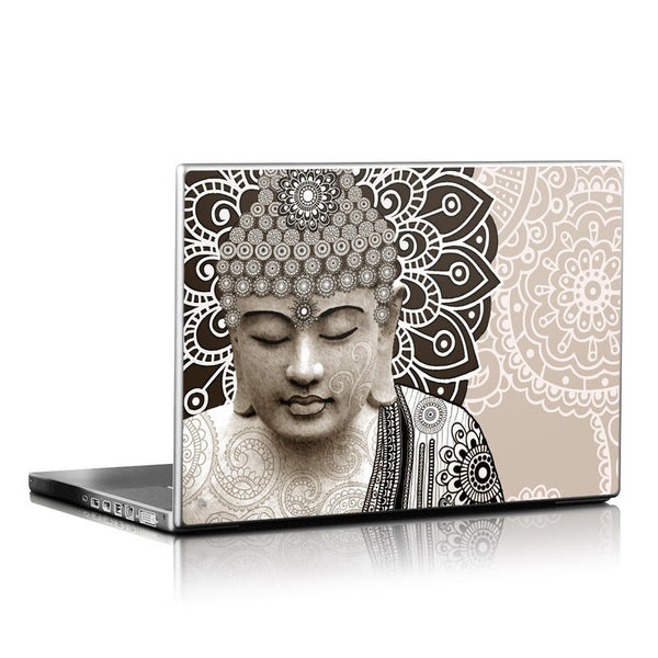 Paisley Buddha Laptop Vinyl Skin Decal - Meditation Mehndi - Laptop Skin Decal - 1