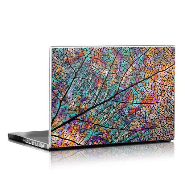 Stained Aspen - Fall Color Abstract Aspen Leaf Laptop Vinyl Skin Decal - Laptop Skin Decal - 1