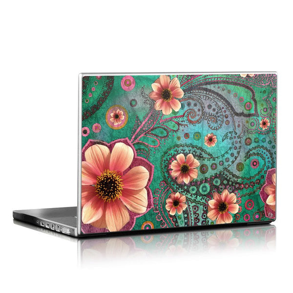 Paisley Laptop Skin - Paisley Paradise - Modern Floral Laptop Vinyl Skin Decal - Laptop Skin Decal - 1