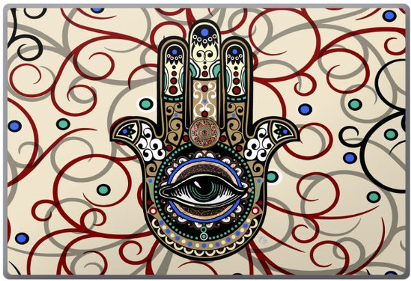 Sacred Defender Hamsa Laptop Vinyl Skin Decal - Laptop Skin Decal - 1
