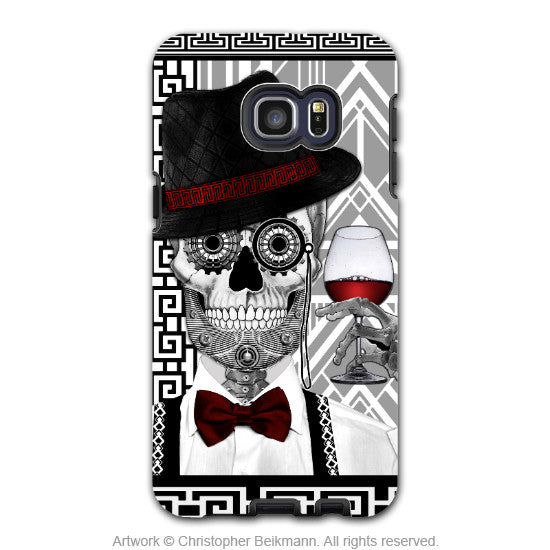Art Deco Sugar Skull - Artistic Galaxy S6 EDGE+ TOUGH Case - Dual Layer Protection - Mr JD Vanderbone