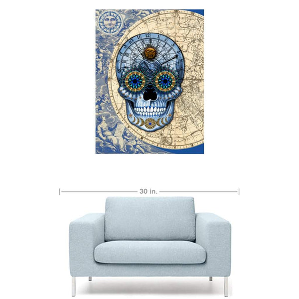 Astrologiskull - Astrology Steampunk Skull Art Canvas Print - Premium Canvas Gallery Wrap - Fusion Idol Arts - New Mexico Artist Christopher Beikmann