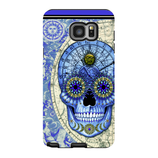 Astrological Skull Galaxy NOTE 5 Case - Astrologiskull - Blue and Tan Sugar Skull Galaxy NOTE 5 Tough Case - Galaxy NOTE 5 TOUGH Case - 1
