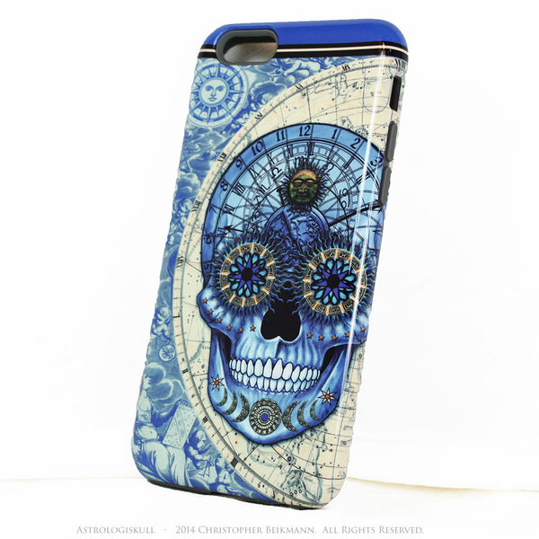 Blue Steampunk Skull iPhone 6 6s Plus Case - Astrologiskull - Astrology skull case for iPhone 6Plus - iPhone 6 6s Plus Tough Case - 2