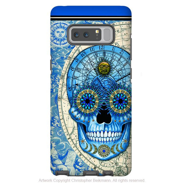 Astrology Sugar Skull Galaxy Note 8 Case - Astrologiskull - Blue Steampunk Sugar Skull Note 8 Tough Case