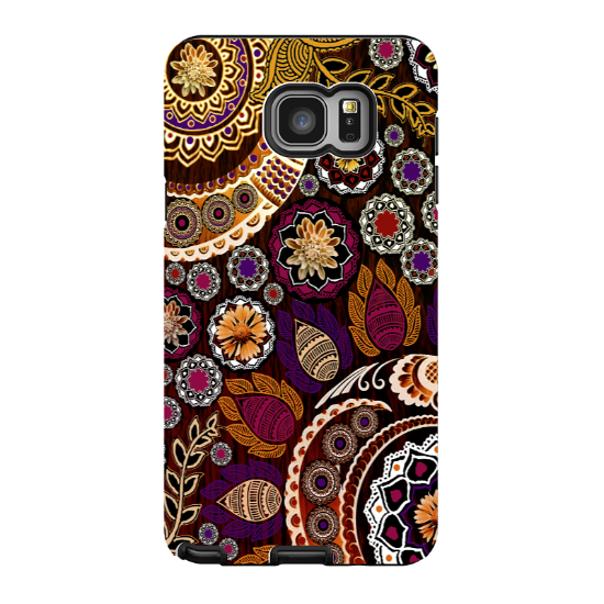 Fall Paisley Galaxy NOTE 5 Case - Autumn Mehndi - Floral Boho Paisley Samsung Galaxy NOTE 5 Tough Case - Galaxy NOTE 5 TOUGH Case - 1