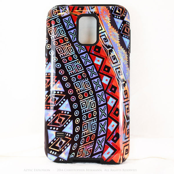 Abstract Aztec Tribal Art Galaxy S5 case - Aztec Explosion - Artistic S5 Tough Case - Galaxy S5 TOUGH Case - 1