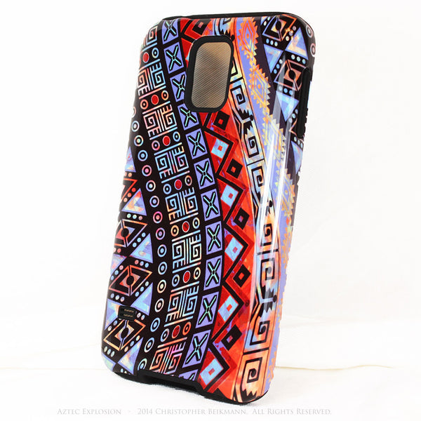 Abstract Aztec Tribal Art Galaxy S5 case - Aztec Explosion - Artistic S5 Tough Case - Galaxy S5 TOUGH Case - 2