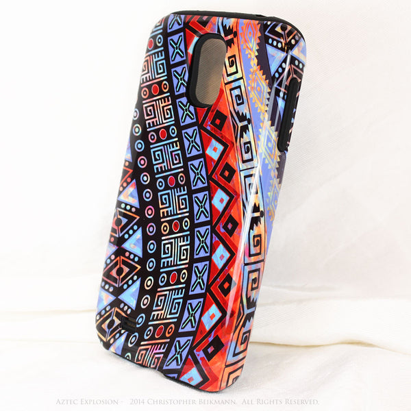 Abstract Aztec Tribal Art Galaxy S4 case - Aztec Explosion - Artistic S4 Tough Case - Galaxy S4 TOUGH Case - 2