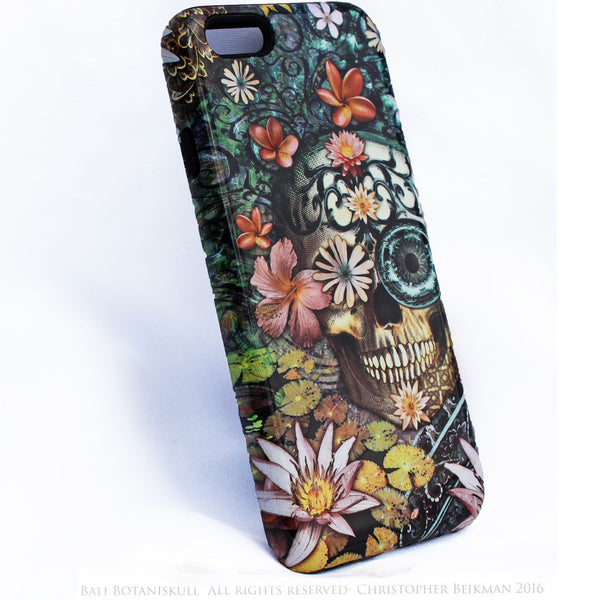 iPhone 6 6s Plus Floral Skull Case - Bali Botaniskull - Day of the Dead - Artistic Tough Case for iPhone 6 6s Plus - iPhone 6 6s Plus Tough Case - 2