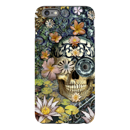 iPhone 6 6s Plus Floral Skull Case - Bali Botaniskull - Day of the Dead - Artistic Tough Case for iPhone 6 6s Plus - iPhone 6 6s Plus Tough Case - 5