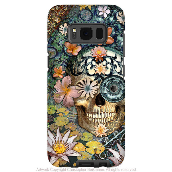 Floral Sugar Skull - Artistic Samsung Galaxy S8 PLUS Tough Case - Dual Layer Protection - bali botaniskull - Fusion Idol Arts