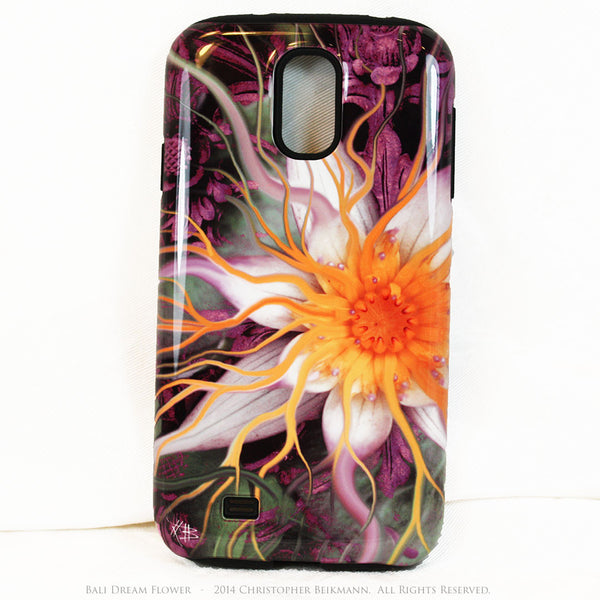Artistic Galaxy S4 TOUGH Case - Bali Dream Flower - Lotus Flower Art -  Artisan Case for Galaxy S4 - Galaxy S4 TOUGH Case - 1