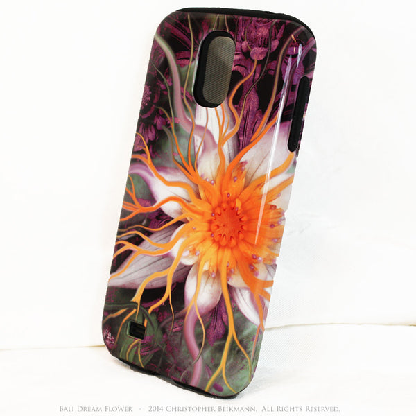 Artistic Galaxy S4 TOUGH Case - Bali Dream Flower - Lotus Flower Art -  Artisan Case for Galaxy S4 - Galaxy S4 TOUGH Case - 2