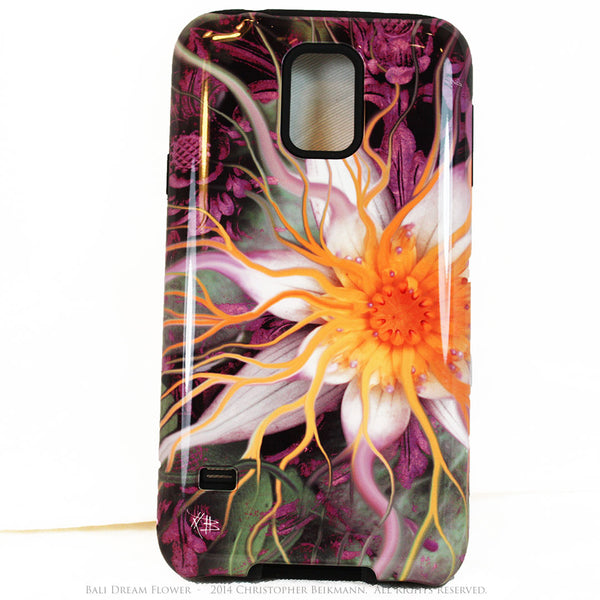 Artistic Galaxy S5 TOUGH Case - Bali Dream Flower - Lotus Flower Art -  Artisan Case for Galaxy S5 - Galaxy S5 TOUGH Case - 1