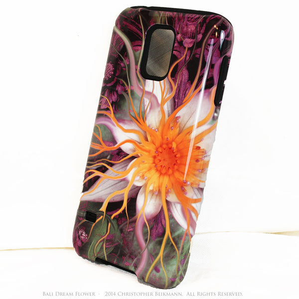 Artistic Galaxy S5 TOUGH Case - Bali Dream Flower - Lotus Flower Art -  Artisan Case for Galaxy S5 - Galaxy S5 TOUGH Case - 2
