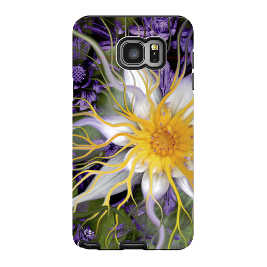 Lotus Galaxy NOTE 5 Case - Artistic Green and Purple Lotus Blossom Samsung Galaxy NOTE 5 Tough Case - Bali Dream Flower - Galaxy NOTE 5 TOUGH Case - 1