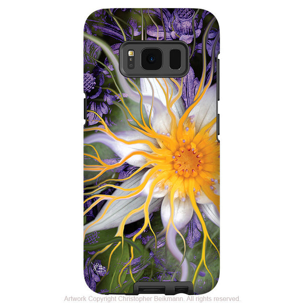 Purple Lotus Flower - Artistic Samsung Galaxy S8 Tough Case - Dual Layer Protection - bali dream flower - Fusion Idol Arts