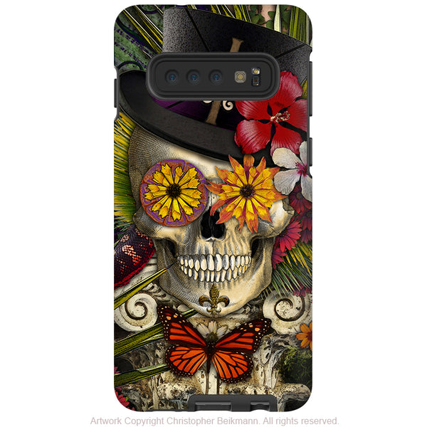 Baron in Bloom - Galaxy S10 / S10 Plus / S10E Tough Case - Dual Layer Protection - Voodoo Sugar Skull Case