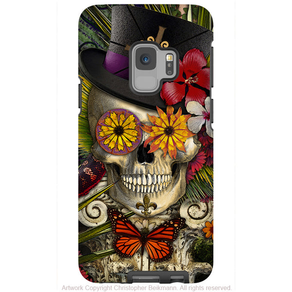 New Orleans Voodoo Sugar Skull - Galaxy S9 / S9 Plus / Note 9 Tough Case - Dual Layer Protection