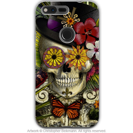 New Orleans Baron Samedi - Dia De Los Muertos - Google Pixel Tough Case - baron in bloom voodoo art