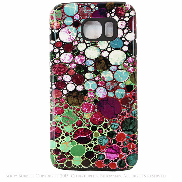 Burgundy Abstract Galaxy S6 Tough Case - Berry Bubbles - Artistic Galaxy S6 case - Galaxy S6 TOUGH Case - 1