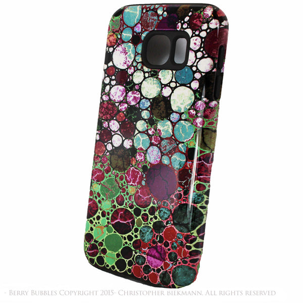 Burgundy Abstract Galaxy S6 Tough Case - Berry Bubbles - Artistic Galaxy S6 case - Galaxy S6 TOUGH Case - 2