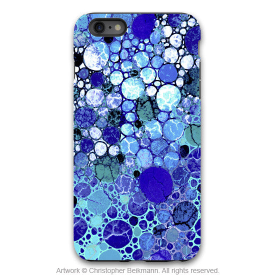 "Blue Abstract iPhone 6 6s Plus TOUGH Case - ""Blue Bubbles"" Artistic Case for iPhone 6 6s Plus - iPhone 6 6s Plus Tough Case - 1"