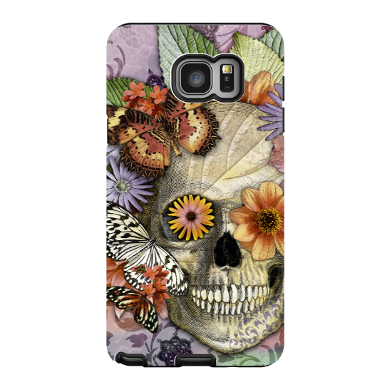 Butterfly Skull Galaxy NOTE 5 Case - Butterfly Botaniskull - Colorful Floral Sugar Skull Galaxy NOTE 5 Tough Case - Galaxy NOTE 5 TOUGH Case - 1
