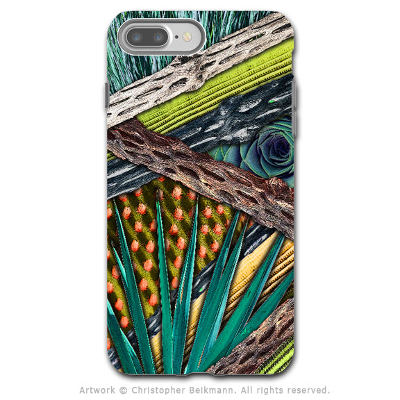 Desert Cactus Abstract - Artistic iPhone 7 PLUS - 7s PLUS Tough Case - Dual Layer Protection - Cactus Abstractus