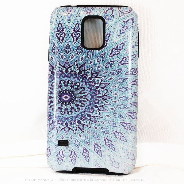 Cloud Mandala Galaxy S5 case - Blue Zen Buddhist Abstract Art S5 Tough Case - Galaxy S5 TOUGH Case - 1