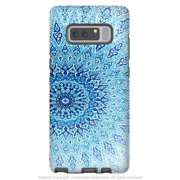 Blue Mandala Galaxy Note 8 Tough Case - Dual Layer Zen Case for Samsung Galaxy Note 8 - Cloud Mandala