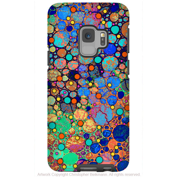Confetti Bubbles - Galaxy S9 / S9 Plus / Note 9 Tough Case - Dual Layer Protection for Samsung S9 - Colorful Art Case