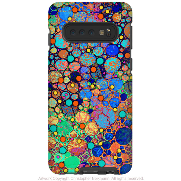 Confetti Bubbles - Galaxy S10 / S10 Plus / S10E Tough Case - Dual Layer Protection - Colorful Abstract