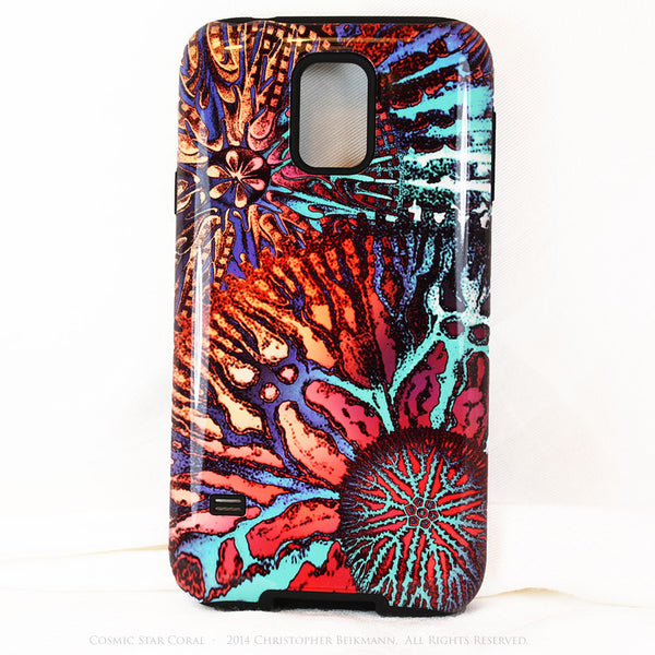 Abstract Ocean Coral Galaxy S5 case - Cosmic Star Coral - Artistic S5 Tough Case - Galaxy S5 TOUGH Case - 1