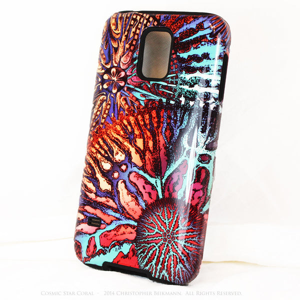 Abstract Ocean Coral Galaxy S5 case - Cosmic Star Coral - Artistic S5 Tough Case - Galaxy S5 TOUGH Case - 2
