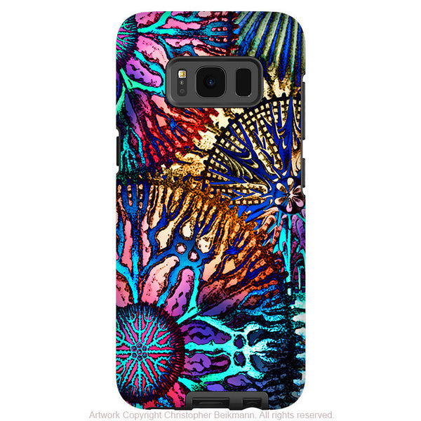 Colorful Abstract Coral - Artistic Samsung Galaxy S8 PLUS Tough Case - Dual Layer Protection - cosmic star coral - Fusion Idol Arts