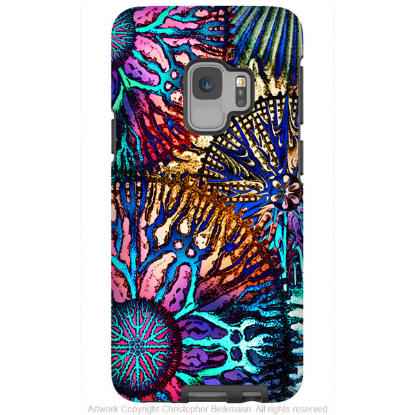 Cosmic Star Coral - Galaxy S9 / S9 Plus / Note 9 Tough Case - Dual Layer Protection for Samsung S9 - Colorful Art Case