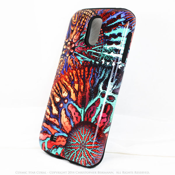 Abstract Ocean Coral Galaxy S4 case - Cosmic Star Coral - Artistic S4 Tough Case - Galaxy S4 TOUGH Case - 2
