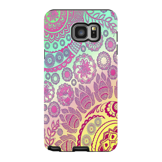 Pastel Paisley Galaxy NOTE 5 Case - Cotton Candy Mehndi - Floral Boho Paisley Samsung Galaxy NOTE 5 Tough Case - Galaxy NOTE 5 TOUGH Case - 1