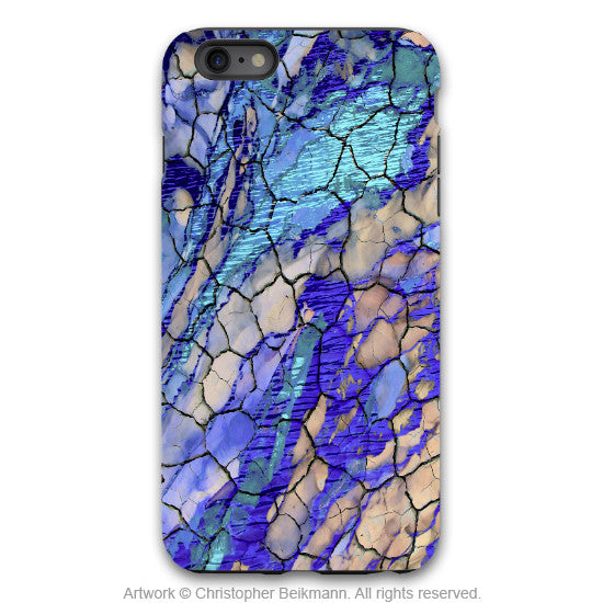 "Blue Abstract iPhone 6 6s Plus TOUGH Case - ""Desert Memories"" Artistic Case for iPhone 6 6s Plus - iPhone 6 6s Plus Tough Case - 1"