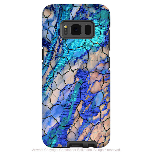 Blue Desert Abstract - Artistic Samsung Galaxy S8 Tough Case - Dual Layer Protection - desert memories - Fusion Idol Arts