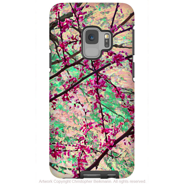 Eternal Spring - Galaxy S9 / S9 Plus / Note 9 Tough Case - Dual Layer Protection for Samsung S9 - Pastel Floral Art Case