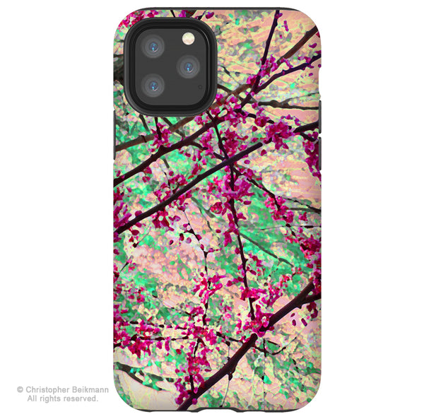 Eternal Spring - iPhone 11 / 11 Pro / 11 Pro Max Tough Case - Dual Layer Protection for Apple iPhone XI - Floral Art Case