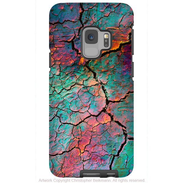 Fractured Aura - Galaxy S9 / S9 Plus / Note 9 Tough Case - Dual Layer Protection for Samsung S9 - Colorful Abstract Art Case