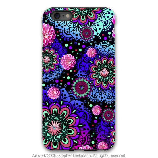 Frilly Floratopia - Colorful Floral iPhone 6 6s Plus TOUGH Case - Dual Layer Modern Paisley iPhone 6 6s Plus case - iPhone 6 6s Plus Tough Case - 1