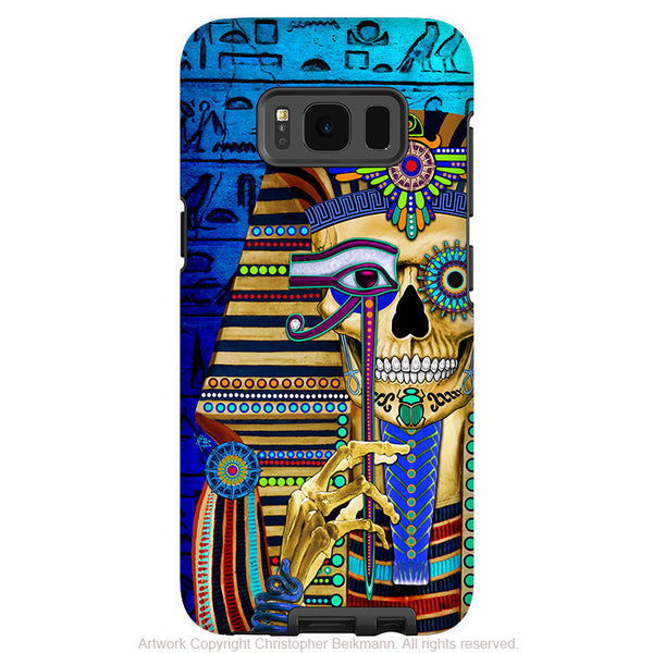 Egyptian Pharaoh Skull - Artistic Samsung Galaxy S8 Tough Case - Dual Layer Protection - funky bone pharaoh - Fusion Idol Arts