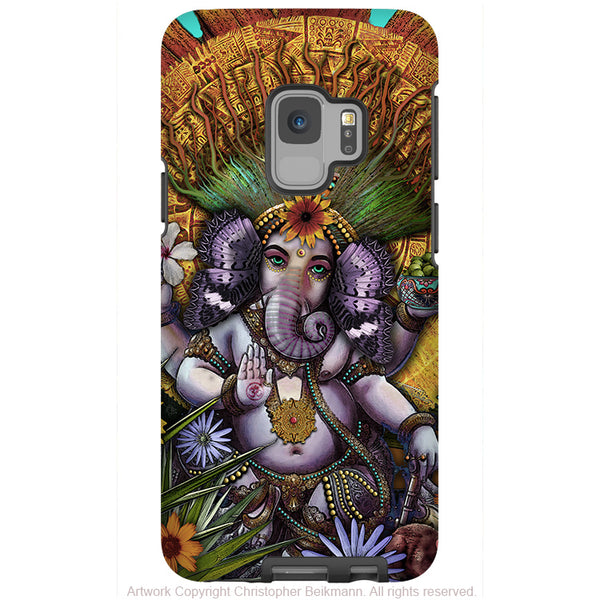 Ganesha Maya - Floral Ganesh - Galaxy S9 / S9 Plus / Note 9 Tough Case - Dual Layer Protection for Samsung S9